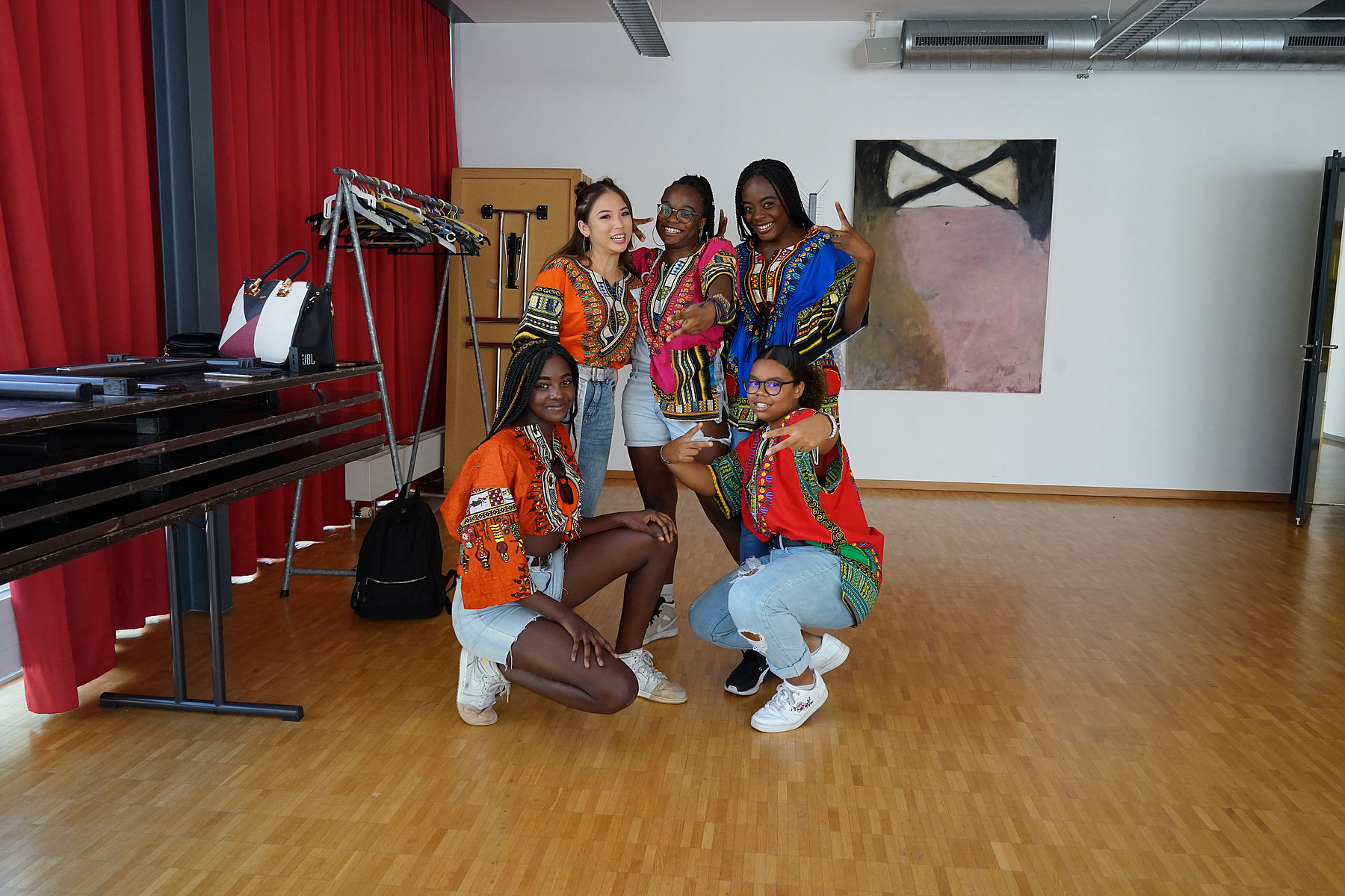 Afroteam (Moutier) en séance photo